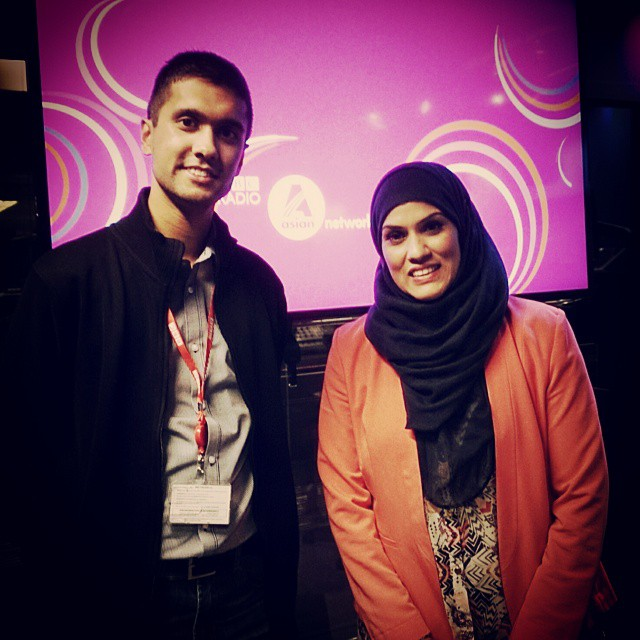 "Ibrahim with Nurun Ahmed, contestant on the tenth series of ""The Apprentice"""