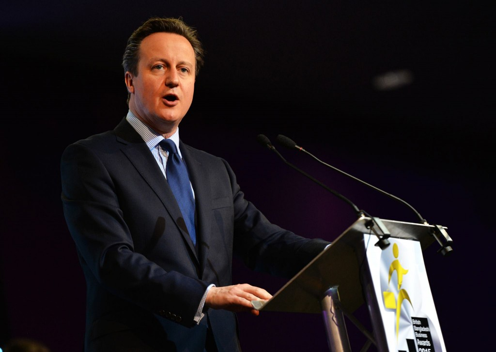 David Cameron at the British Bangladeshi Business Awards