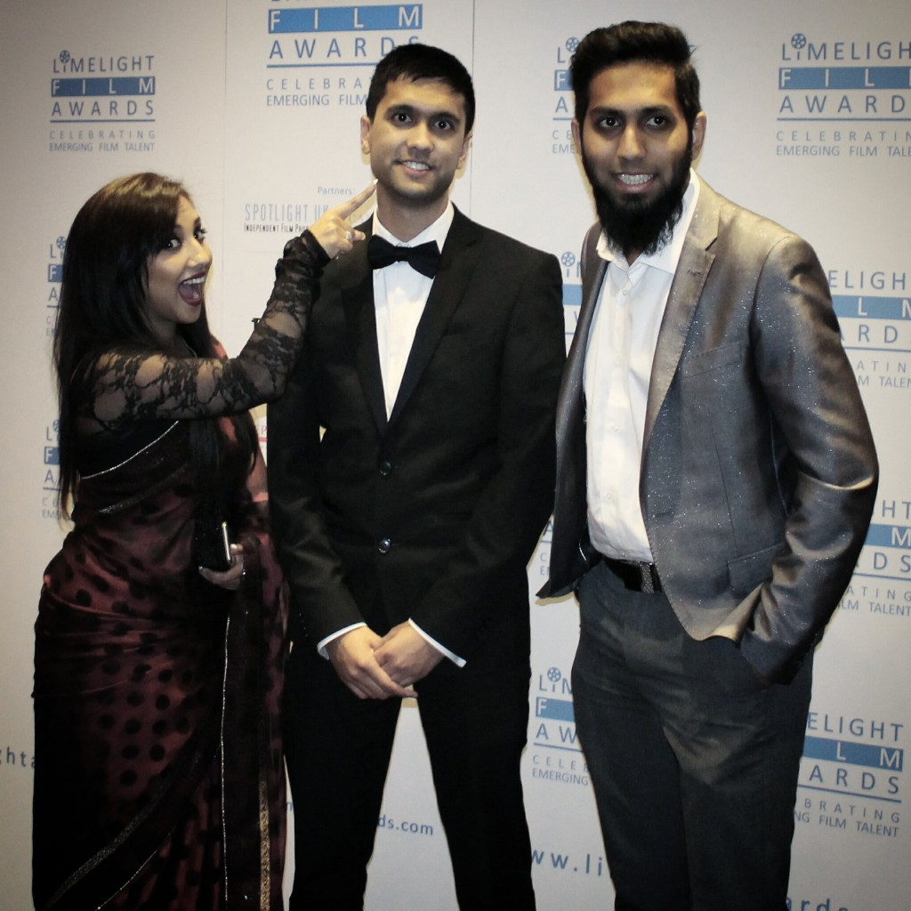 Some of the Ramadan Roundup 4 gang - Nadia Ali (left), Ibrahim Rahman (centre) and Raza Amode (right)