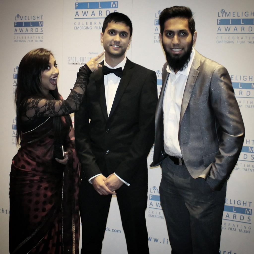 Some of the Ramadan Roundup 4 gang - Nadia Ali (left), Ibrahim Rahman (centre) and Raza Amode (right)
