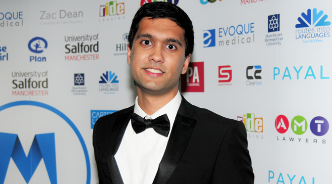 Ibrahim at the Asian Media Awards 2015
