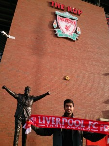 Ibrahim visits Anfield for the first time